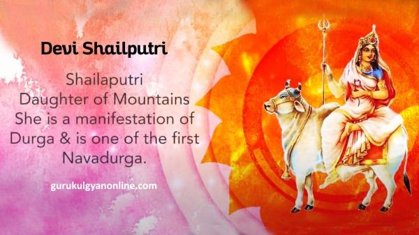 Devi Shailputri the manifestation of Goddess Durga - Navratri Day 1