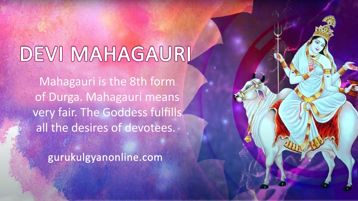Goddess Mahagauri - Devi is worshipped on the eighth day of navratri