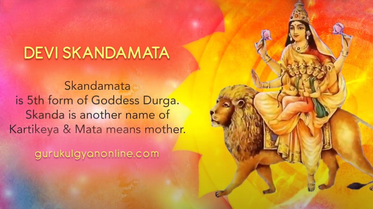 Navratri Day 5 - Skandamata form of Goddess Durga